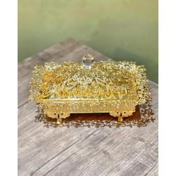 Gold Kapaklı Dikdörtgen Çikolatalık