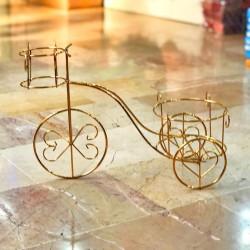Gold Ferforje Bisiklet Saksı