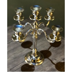 Gümüş 5 Kollu Şamdan