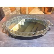 Gümüş Aynalı Oval Tepsi