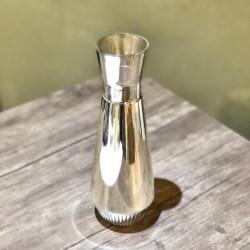 Gold Gümüş Cam Çiçek Vazosu