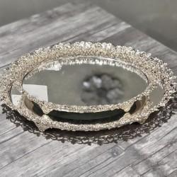 Çiçekli Oval Söz Nişan Çikolata Tepsisi