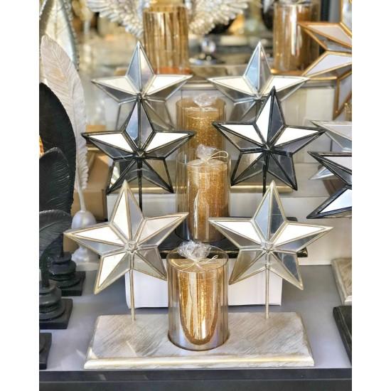 Dekoratif Aynalı Yıldız Mumluk