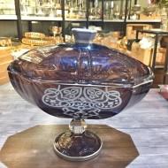 Kapaklı Cam Gondol Şekerlik Çikolatalık