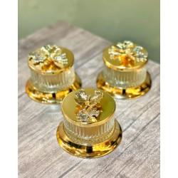 Gold Taban ve Kapaklı Cam Şekerlik