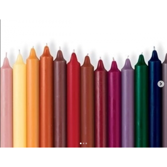 Renkli Konik Şamdan Mumu