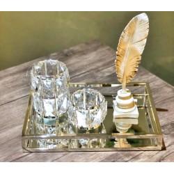 Masaüstü Dekoratif Taşlı Mumluk