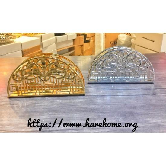 Metal Peçetelik Gold Gümüş