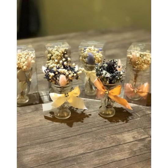 Toptan Söz Nişan Hediyelikleri - Süslü Mini Vazo