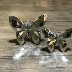 Gümüş ikili kelebek biblo