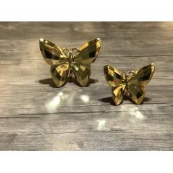 Altın ikili kelebek biblo