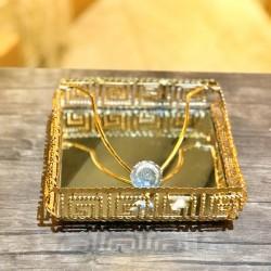 Gold Gümüş Masaüstü Peçetelik