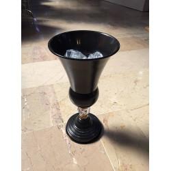 Siyah Metal Taşlı Vazo