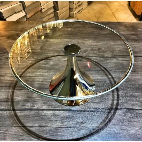 Gümüş Ayaklı Cam Pasta Yükselticisi