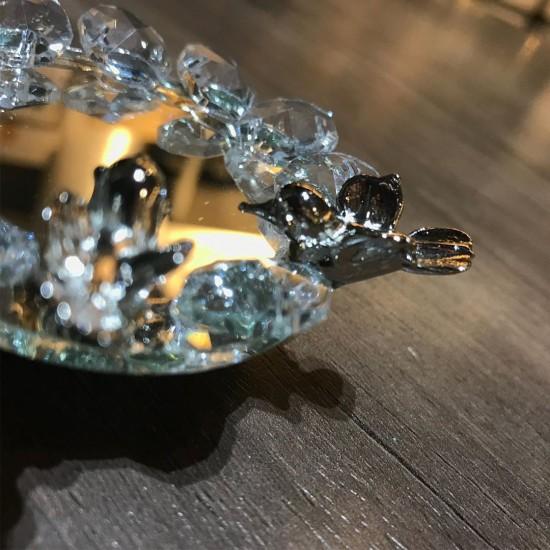 Gold Gümüş Kuşlu Yüzük Yükselticisi